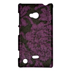 Purple Black Red Fabric Textile Nokia Lumia 720 by Celenk