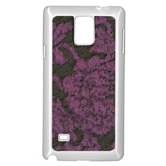 Purple Black Red Fabric Textile Samsung Galaxy Note 4 Case (white) by Celenk