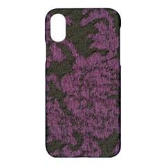 Purple Black Red Fabric Textile Apple Iphone X Hardshell Case