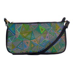Triangle Background Abstract Shoulder Clutch Bags by Celenk