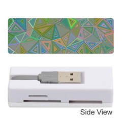 Triangle Background Abstract Memory Card Reader (stick)  by Celenk