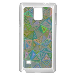 Triangle Background Abstract Samsung Galaxy Note 4 Case (white) by Celenk