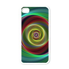Spiral Vortex Fractal Render Swirl Apple Iphone 4 Case (white) by Celenk