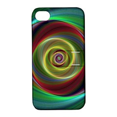 Spiral Vortex Fractal Render Swirl Apple Iphone 4/4s Hardshell Case With Stand by Celenk