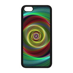 Spiral Vortex Fractal Render Swirl Apple Iphone 5c Seamless Case (black) by Celenk