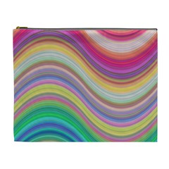 Wave Background Happy Design Cosmetic Bag (xl) by Celenk