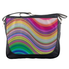 Wave Background Happy Design Messenger Bags by Celenk