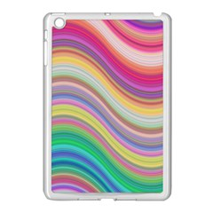 Wave Background Happy Design Apple Ipad Mini Case (white) by Celenk