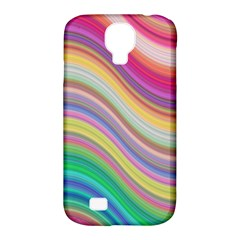 Wave Background Happy Design Samsung Galaxy S4 Classic Hardshell Case (pc+silicone) by Celenk