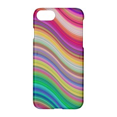 Wave Background Happy Design Apple Iphone 7 Hardshell Case by Celenk