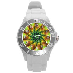 Vision Wallpaper Decoration Round Plastic Sport Watch (l) by Celenk