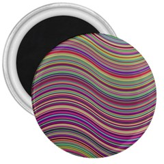 Wave Abstract Happy Background 3  Magnets by Celenk