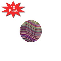 Wave Abstract Happy Background 1  Mini Magnet (10 Pack)  by Celenk