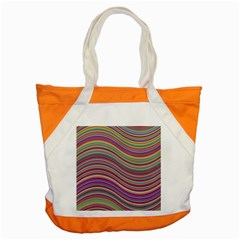 Wave Abstract Happy Background Accent Tote Bag by Celenk