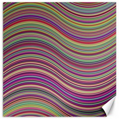 Wave Abstract Happy Background Canvas 16  X 16   by Celenk