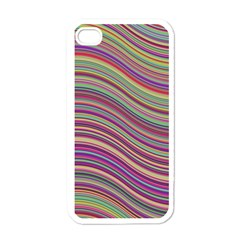 Wave Abstract Happy Background Apple Iphone 4 Case (white) by Celenk
