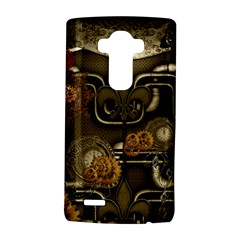 Wonderful Noble Steampunk Design, Clocks And Gears And Butterflies Lg G4 Hardshell Case by FantasyWorld7