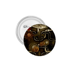 Wonderful Noble Steampunk Design, Clocks And Gears And Butterflies 1 75  Buttons by FantasyWorld7