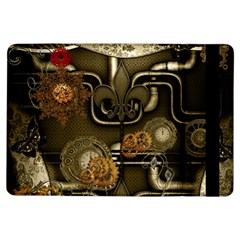 Wonderful Noble Steampunk Design, Clocks And Gears And Butterflies Ipad Air Flip by FantasyWorld7