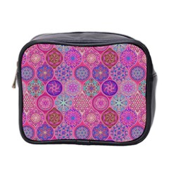 12 Geometric Hand Drawings Pattern Mini Toiletries Bag 2 Side by Cveti