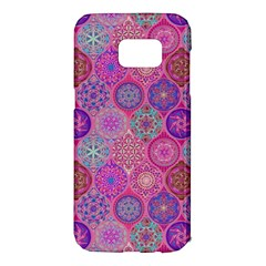 12 Geometric Hand Drawings Pattern Samsung Galaxy S7 Edge Hardshell Case by Cveti
