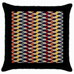 Native American 7 Throw Pillow Case (black) by Cveti