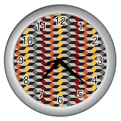 Native American 7 Wall Clocks (silver)  by Cveti