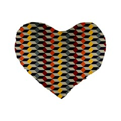 Native American 7 Standard 16  Premium Flano Heart Shape Cushions by Cveti