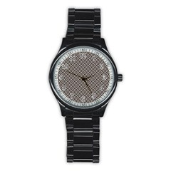 Native American Pattern 2 Stainless Steel Round Watch by Cveti