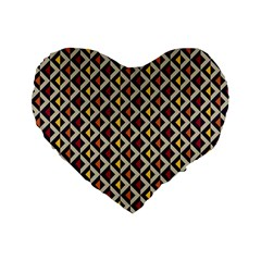 Native American Pattern 5 Standard 16  Premium Flano Heart Shape Cushions by Cveti