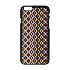 Native American Pattern 5 Apple Iphone 6/6s Black Enamel Case by Cveti