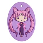 Black Lady CutiE Oval Ornament