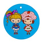 Besties Round Ornament