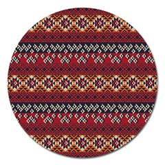 Native American Pattern 8 Magnet 5  (round) by Cveti