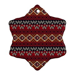 Native American Pattern 8 Snowflake Ornament (two Sides) by Cveti
