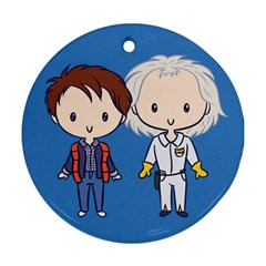 Time Travelin  Cuties Round Ornament