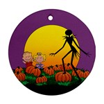 The Great Pumpkin King Round Ornament