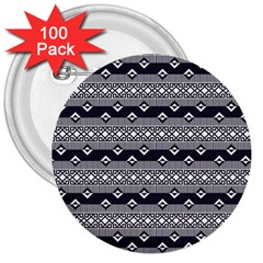 Native American Pattern 9 3  Buttons (100 Pack)  by Cveti