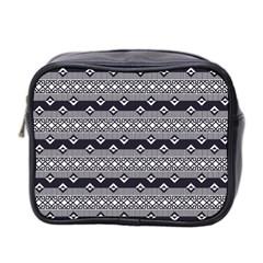 Native American Pattern 9 Mini Toiletries Bag 2 Side by Cveti