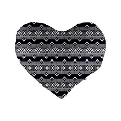 Native American Pattern 9 Standard 16  Premium Flano Heart Shape Cushions by Cveti