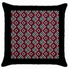 Native American 10 Throw Pillow Case (black) by Cveti