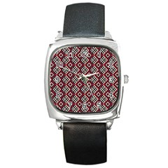 Native American 10 Square Metal Watch by Cveti