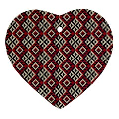 Native American 10 Heart Ornament (two Sides) by Cveti