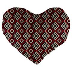 Native American 10 Large 19  Premium Flano Heart Shape Cushions by Cveti