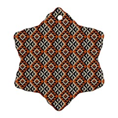 Native American Pattern 11 Snowflake Ornament (two Sides) by Cveti