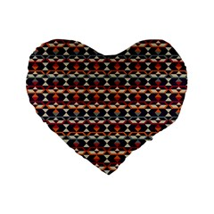 Native American Pattern 14 Standard 16  Premium Flano Heart Shape Cushions by Cveti