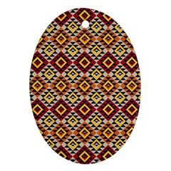 Native American Pattern 15 Oval Ornament (two Sides) by Cveti