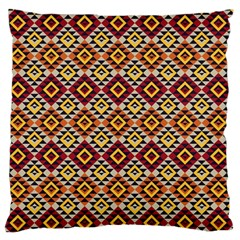 Native American Pattern 15 Large Flano Cushion Case (two Sides) by Cveti