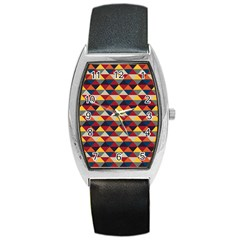 Native American Pattern 16 Barrel Style Metal Watch by Cveti