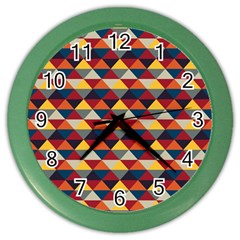 Native American Pattern 16 Color Wall Clocks by Cveti